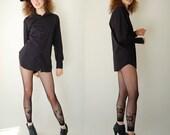 Structured Menswear Shirt Vintage Black Crisp Menswear Calvin Klein Indie Button Up Shirt (s m)