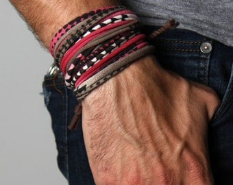 Mens Bracelet, Wrap Bracelets, Mens Jewelry, Bracelet Men, Men Gift, Tribal, Mens Gift, Gift For Men, Gift Ideas, Bracelet, Jewelry, For Him