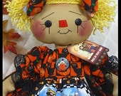 """Primitive Raggedy Ann 16""""~""""HaLLoWeeN AnniE~from Ginger Creek Crossing"""