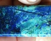 Rectangular cabochon - azurite with malachite?