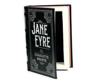 Jane Eyre Hollow Book Secret Storage Hidden Box Stash BooksafeSafe Handmade B&N Leatherbound Black - READY To SHIP