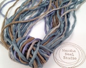 2mm Hand Painted Silk Ribbon Cords in Marsha Neal Studio Sea Shore Color Palette