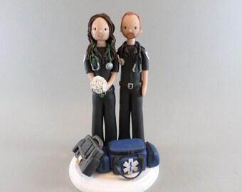 Cake Topper   Personalized Paramedic WeddingEmt cake topper   Etsy. Novelty Wedding Cake Toppers. Home Design Ideas
