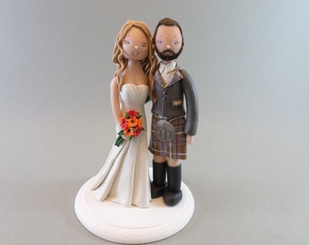 cheeky scottish wedding cake toppers custom scottish wedding cake topper by mudcards on etsy 12550
