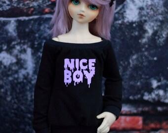 Minifee, Volks MSD Clothes or SD size Nice Boy Goth Shirt, MNF Black Shirt 1/4 Size Doll