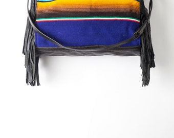 Handcrafted Dylan Leather Fringe Duffel Overnight Bag by Bird Trouble in Chicago MADE to ORDER