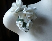 Silk Roses in IVORY for Bridal, Boutonnieres, Hats, Corsages MF 138