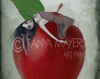 Snow White Art Print - Fairytale - Death By Apple