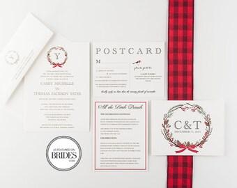 Winter Wonderland Wedding Invitation Collection, as seen in Brides Magazine