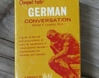 Vintage 1984 German Conversation Cards