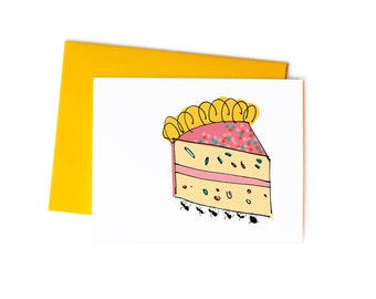 Funny Birthday Cards, Picnic Ants with Cake Blank Greeting Card Set