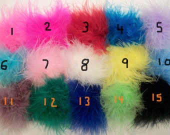Wholesale lot 12 Marabou Feather Puffs (15 Colors To Choose From)