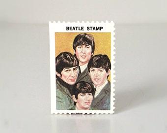 Vintage Beatles Gift, Music Gift for Her, 1964 Beatles Stamp, Unused Hallmark Postage Stamp, Music Lover Gift Men, 60s Beatles Memorabilia