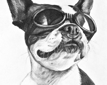Custom DOG PORTRAIT from photo - commission a portrait from your favorite photograph
