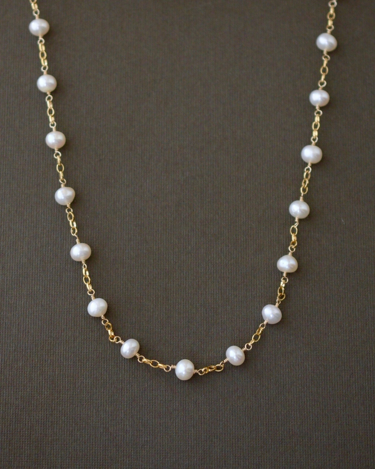 pearl station necklace gold pearl necklace classic pearl