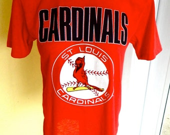 St Louis Cardinals 1980s vintage tee shirt red size small