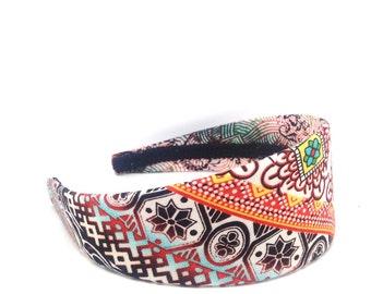 Wide Headband - Bohemian Headband - Boho - Hippie Headband - Adult Headband Woman - Autumn Headband, Fall Headband