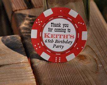Poker Themed birthday tags  - Casino party - by Just Scraps N' Things