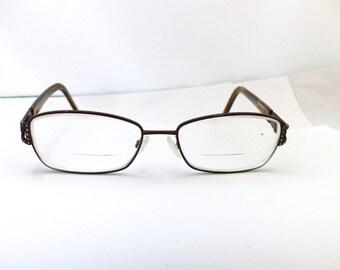 Valentino 5518 Eyeglasses // 80s 90s Vintage Designer Frames // made in Italy // Rhinestones and Tortoiseshell / Red leather Case /