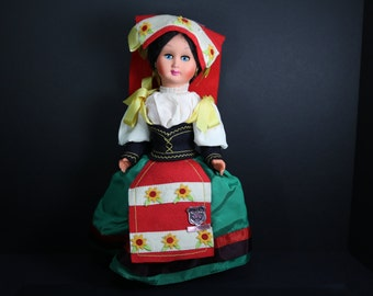 Vintage Celluloid Doll, Italy, 14 inch International Doll, BET, AntiqueVintageEstate