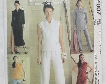 Sz 8 10 12,14,16,18 Perfect Wardrobe Palmer Pletsch  Classic Fit 2003 McCall's  Sewing Pattern 4007  Dress, Top and Pants in Two Lengths