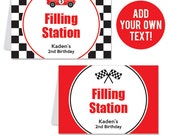 INSTANT DOWNLOAD Race Car Party Buffet Cards - EDITABLE Printable File