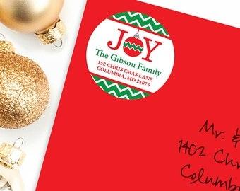 Christmas Address Labels - Joy - Sheet of 24