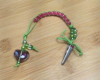 All HEART - PINK and Green  - Golf Stroke Counting Beads - MINI by TallyGators™