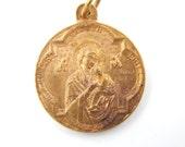 Antique Signed Penin Poncet Our Lady of Perpetual Help - Saint Alphonse de Liguori Catholic Medal - Theotokos Orthodox Religious Charm - P69