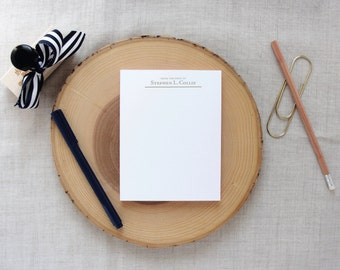Gentlemen's Personalized Notepad | From the Desk of | Gifts for Men
