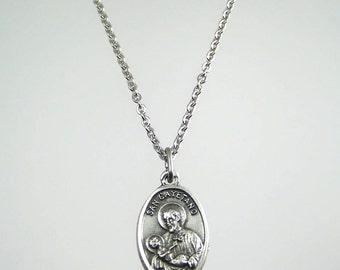 Saint Cajetan Cayetano Gaetano Medal Necklace