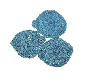 Spiral Scrubbies, Set Of 3 Dish Scrubber, Body Scrubber