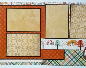 12x12 Premade scrapbook page - Premade 12x12 scrapbook page - Autumn scrapbook layout - 12x12 Fall scrapbbook layout - Ohioscrapper