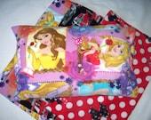 Disney Minnie Mouse,Princess or Firetruck Fleece Pillowcase.Your choice of single or 2 piece set. Very Soft,Huggable Fleece Pillow Cover