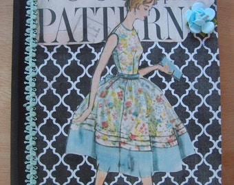 Vintage Inspired Vogue Fashion Journal Altered Composition Book