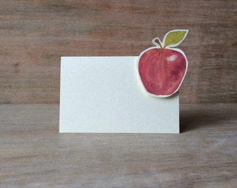 Red Apple Tent - Place Card - Escort Card - Gift Card - Table Number Card - Menu Card -weddings events