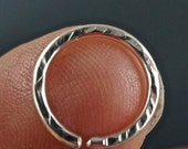 Silver SEPTUM RING - 16g Septum Hoop  - Sterling Silver - Eyebrow - Nose - Belly Button No.00505