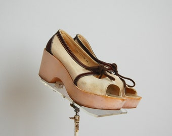 Vintage 1970s Shoes - 70s Platform Shoes - The Patricia