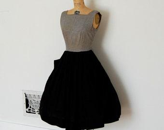 Vintage 50s Dress - 1950s Cotton Dress - The Lucille