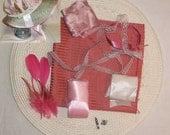 Bonnet Kit- DIY- Pink and Ivory- Regency, Georgian, Jane Austen Era Bonnet
