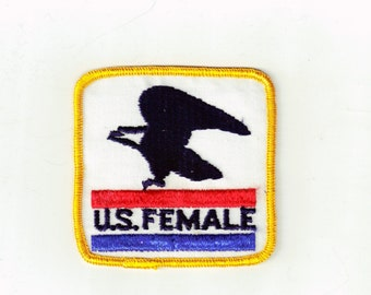 U.S. Female Post Office Humor Sew On Retro Vintage Sewing Patch Applique Collectible