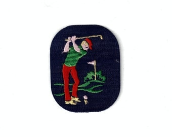 Golfer Play Sports Club Vintage Patch Sewing Applique