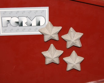 Concrete Star Magnets - Set of 4
