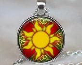 Celtic Sun necklace, Celtic Sun pendant, Sun jewelry, Celtic jewelry, Sun pendant, Celtic pendant, Celtic key chain, sun key chain key fob