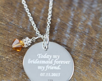 Engraving Add-On, Engraved Custom Personalized Jewelry
