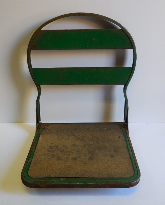 Metal Stadium Seats : Items similar to vintage stadium seat bleacher hook on
