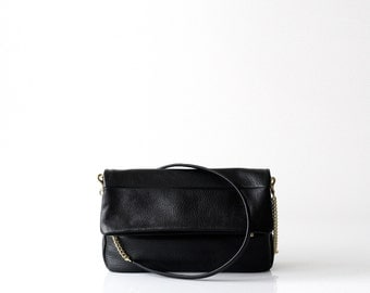 Soft Leather Clutch Bag OPELLE Fold Over Clutch