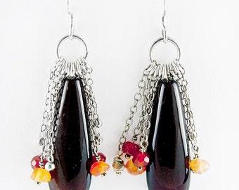 Carnelian Briolette Earrings