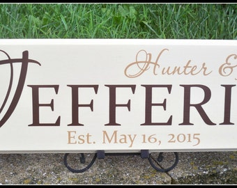 Last Name Sign, Family Name Sign, Personalized Signs, Established Sign, Wedding Signs, Family Sign, Custom Name Sign, Last Name Signs, Signs