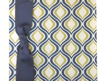 Tight Bound Baby Memory Book - Navy/Sage green Groovy Print